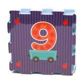 Детский резиновый коврик Вагончик с цифрами M 2614