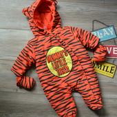 Комбинезон тигра для новорожденного Little loud (0-3 мес)