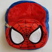 Детский плюшевый рюкзачок человек паук ( спайдер мен )