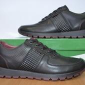 Мужские кожаные осенние туфли  Clubshoes  .