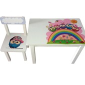 Детский столик и стульчик BS0182 Совушки
