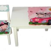 Детский столик и стульчик BS0182 Девочка