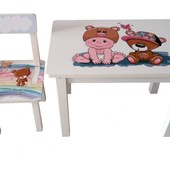 Детский столик и стульчик BS0182 Малыш и Мишка