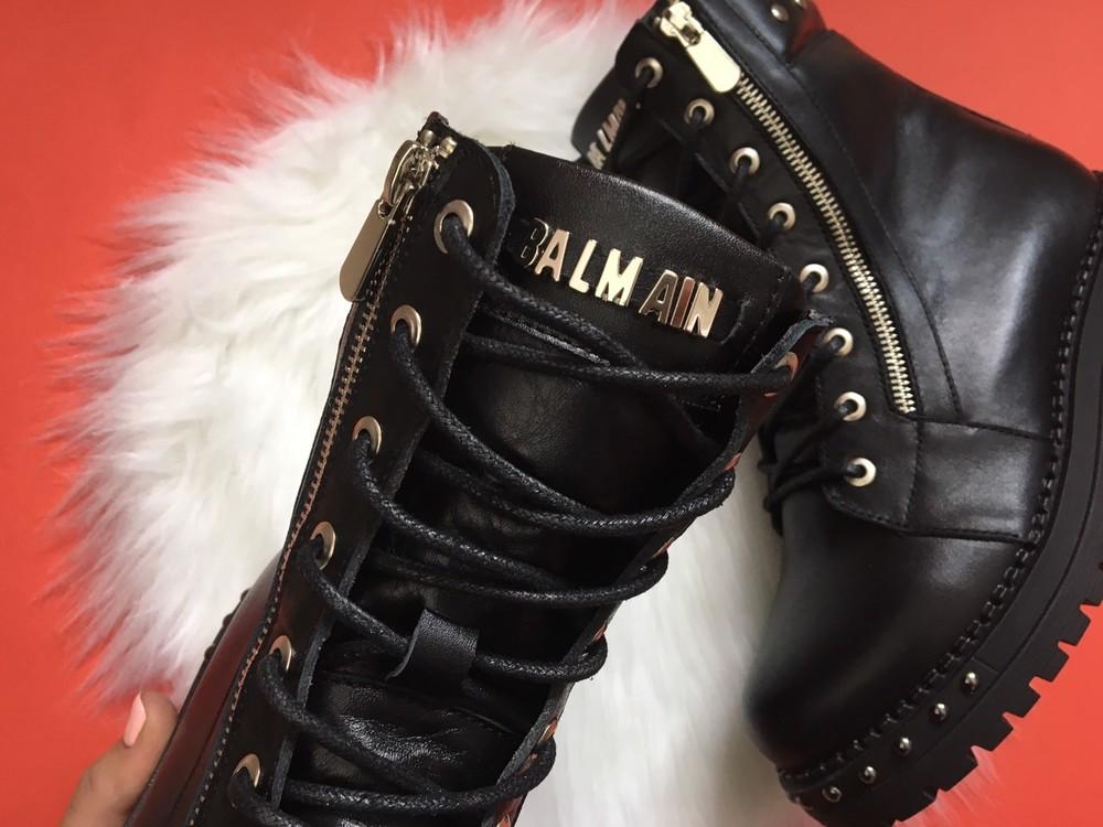 Скидка кожаные женские ботинки, черные, зима/осень фото №7