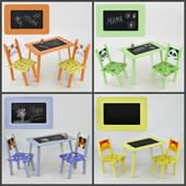Столик МИНИ 60*46 см. столик с меловой поверхностью+ 2 стула