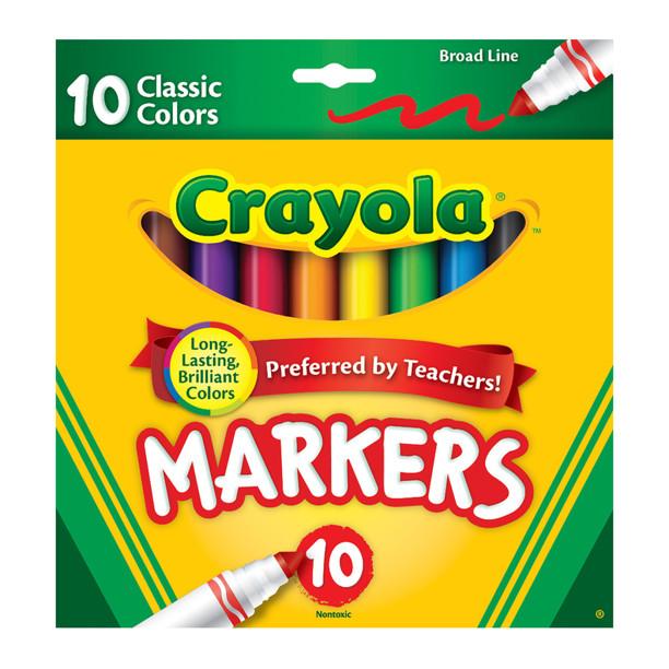 Маркеры толстая линия 10 шт crayola фото №1