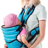 Кенгуру-Переноска Для малышей, Умка 12, на 2 положения, усиление для спины, бирюзовый