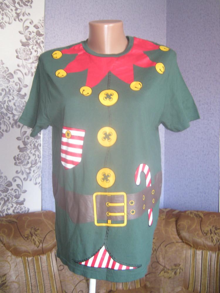 Новорічна футболка  з шапочкою,розмір s фото №1