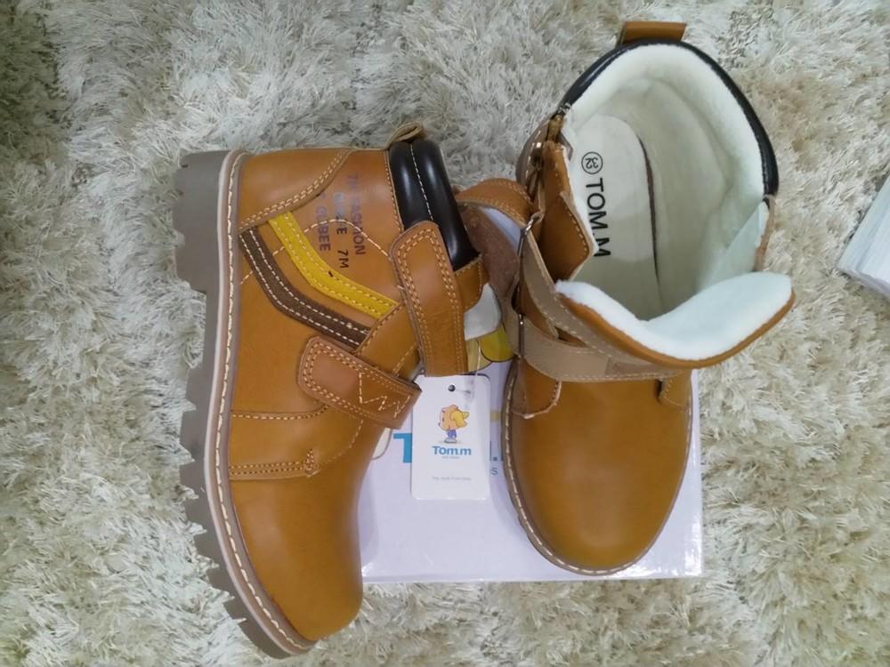 Детские демисезонные ботинки том.м для мальчика на флисе фото №1