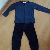 комплект реглан и вельветовые утепленные штаны