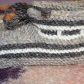Комнатние тапочки из натуральной овечьей шерсти