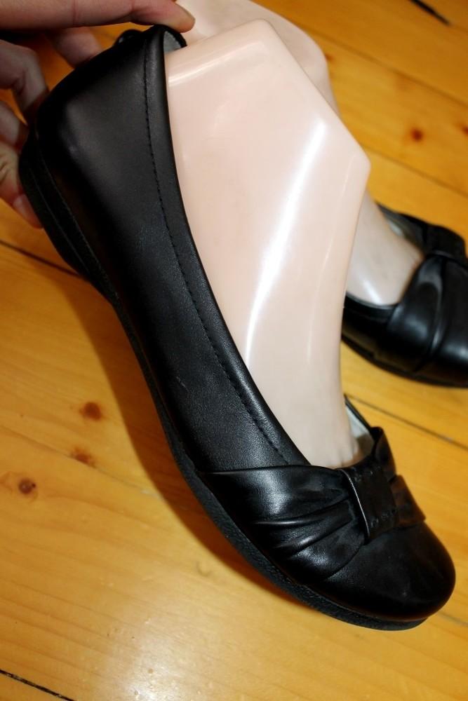 39 разм. фирменные балетки clarks. кожа длина по внутренней стельке - 25,5 см., ширина подошвы - 9 с фото №1