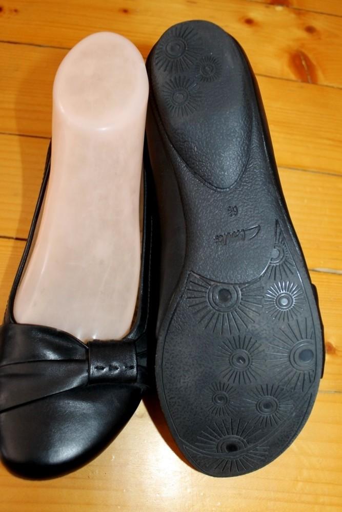 39 разм. фирменные балетки clarks. кожа длина по внутренней стельке - 25,5 см., ширина подошвы - 9 с фото №4