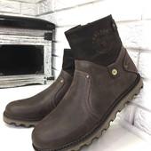 Ботинки Casual lux, зимние, натуральная кожа на меху, код ех-2032-1
