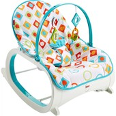 Fisher-Price кресло-качалка с вибрацией шезлонг бриллиант CMP83 infant to toddler rocker geo diamond