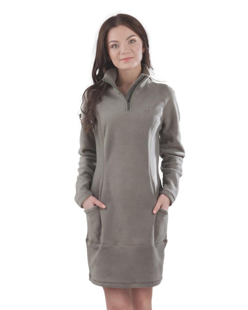 Теплое женское флисовое платье фото №1