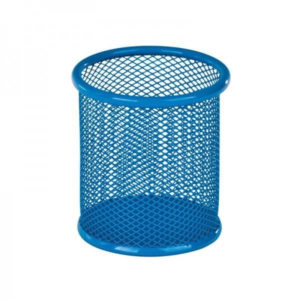 Підставка для ручок кругла 80х80х100мм, мет, блакитна фото №1