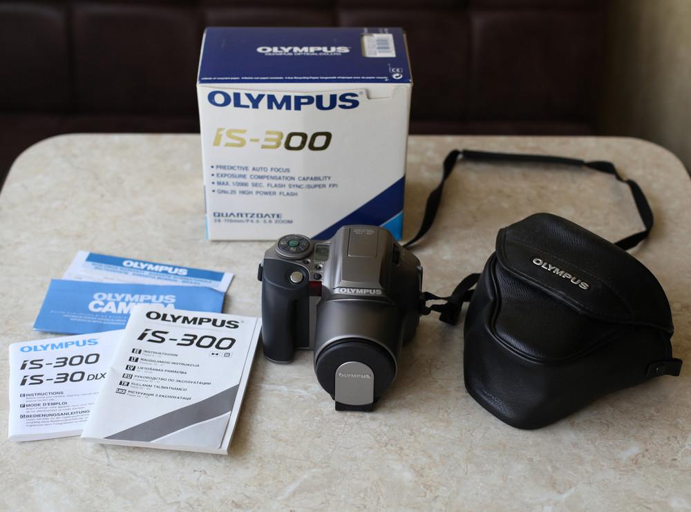 Фотоаппарат olympus is 300 с телеконвертором olympus c-210 h.q. converter 1.9x фото №1