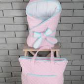 Конверт одеяло на выписку в коляску демисезон весна осень для мальчика для девочки