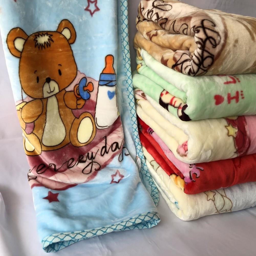 Детский теплый двойной плед одеяло отличное качество 105х105 фото №1