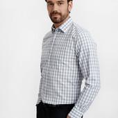 мужская белая рубашка LC Waikiki / ЛС Вайкики в голубую и красную клетку
