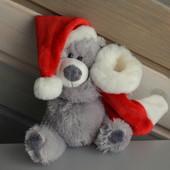 Мишка новогодний Makiko помощник санты
