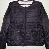 Мега лёгкая, на пуху, двухсторонняя, деми куртка/жакет Fransa, размер М