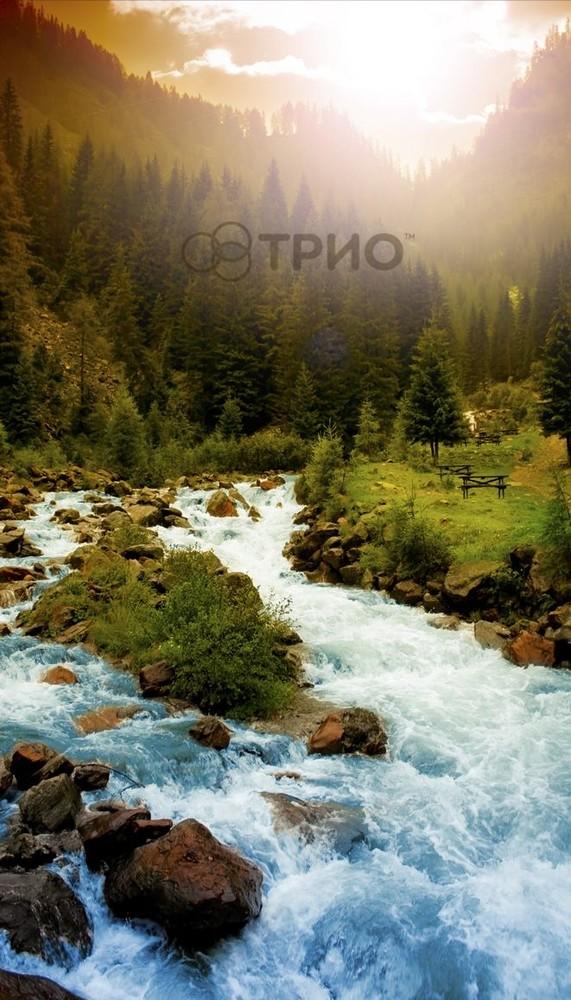 Инфракрасный пленочный обогреватель горная река фото №1