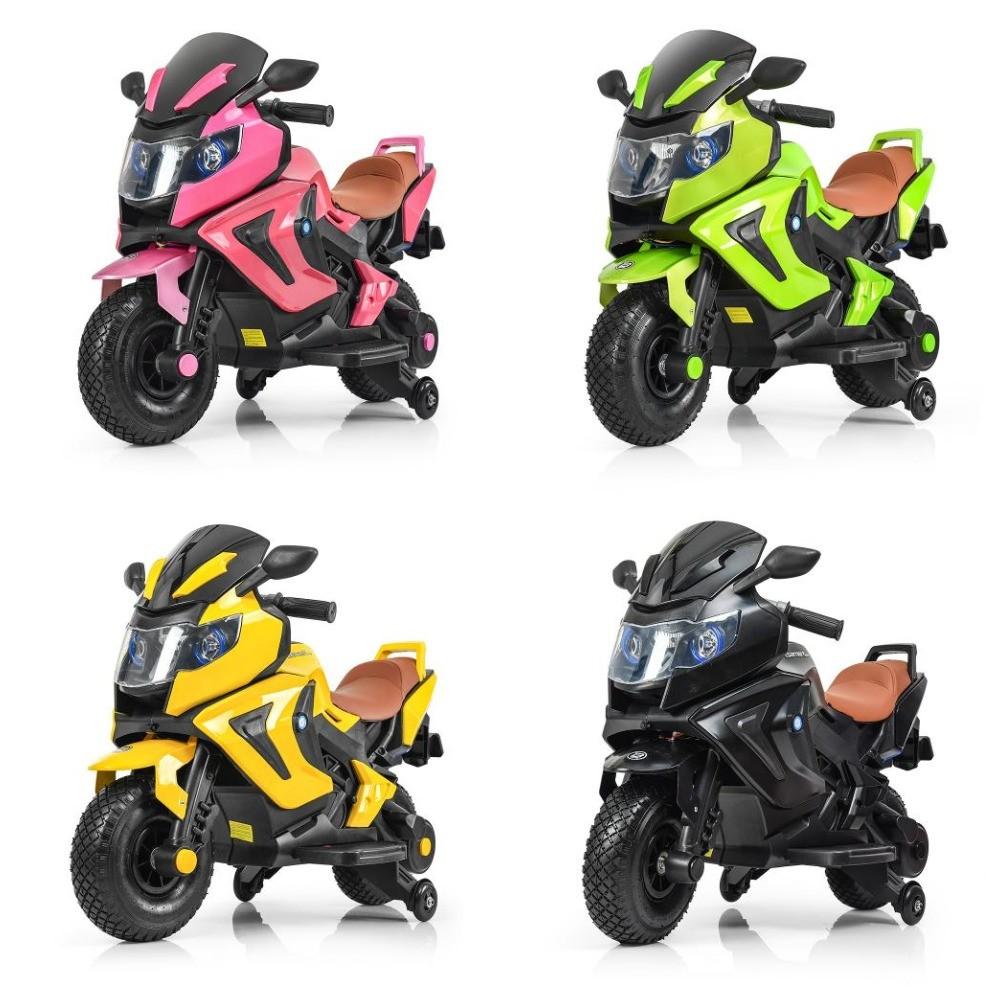 Мотоцикл m 3681als надувные колеса, автопокраска, до 60 кг фото №1