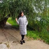 Куртка женская длинная серая