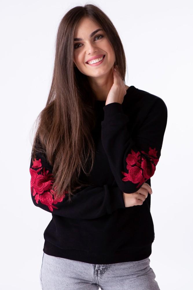 Світшот жіночий з дизайнерською вишивкою фото №1