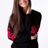 Світшот жіночий з дизайнерською вишивкою