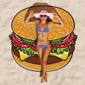 Пляжное покрывало в виде гамбургера
