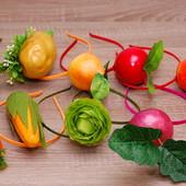 Ободки на праздник осени морковка, буряк, капуста, кукуруза, груша, яблоко