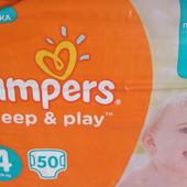 Памперсы, подгузники Pampers sleep&play, № 4