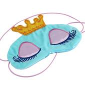 Маска для сна принцесса голубая