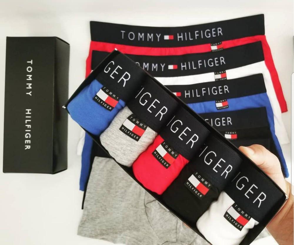 Фирменный набор мужских трусов tommy hilfiger 5 шт + подарочная упаковка  фото №1 2108d5cf35b9e