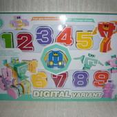 Цифры трансформеры Digital variant от 0 до 9 (10 цифр в наборе)