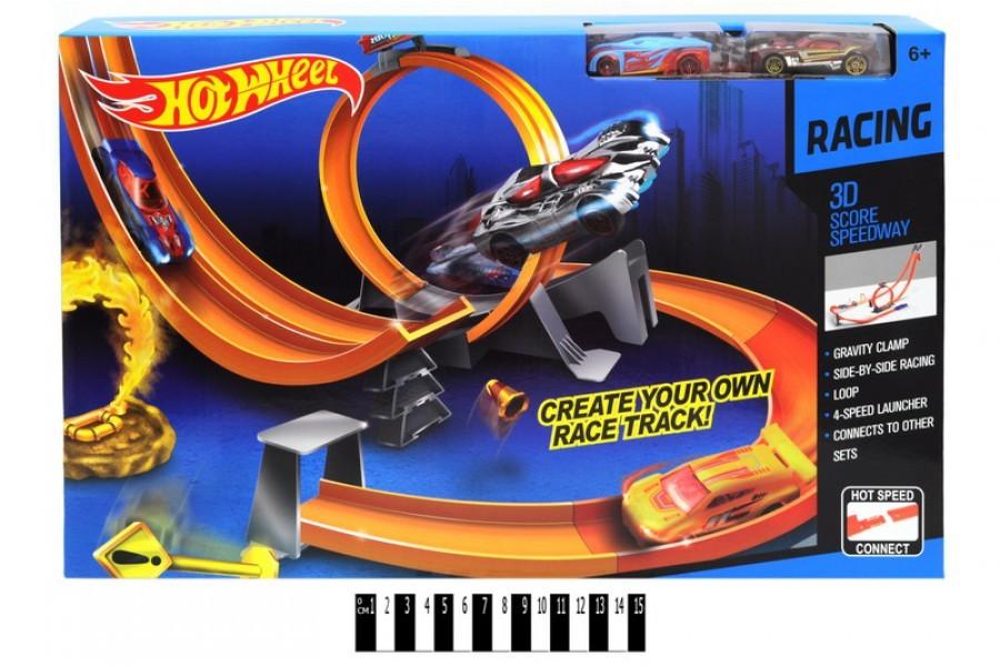 Трек hot wheel 9988-56a с петлями, 2 машинки фото №1
