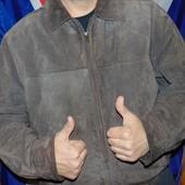 Стильная кожаная замшевая курточка бренд Genuine (Дженуин) Италия .хл-2хл .