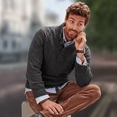 Теплый вязанный свитер 4XL George Германия 100% акрил