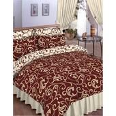Бязевый двухспальный постельный комплект. 80% хлопок, 20% полиэстер. Ткань плотная.много расцветок.