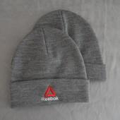 Теплая зимняя шапка Reebok черная, серая