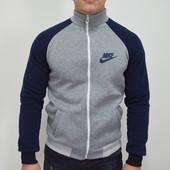 Мужская кофта спортивная Nike/найк на молнии,с карманам,на флисе,тепл