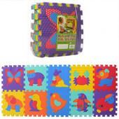 Коврик мозайка Животные пазлы M 3517, 10 деталей