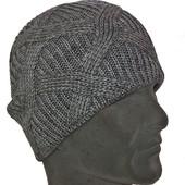 Теплая вязанная шапка - чулок 54-58 разные цвета