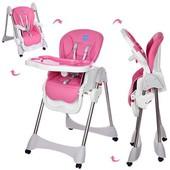 Стульчик для кормления Bambi, розовый цвет