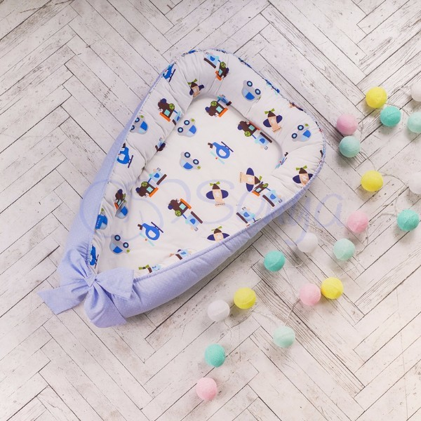 Кокон-гнездышко для новорожденных на выписку (много моделей) фото №14