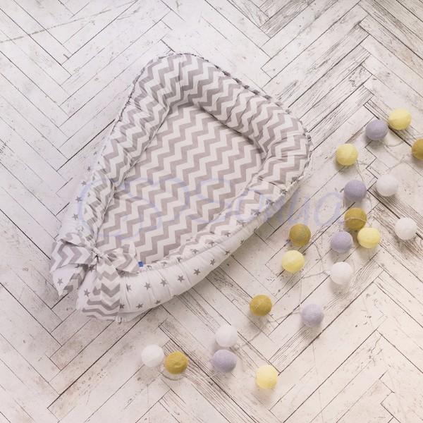 Кокон-гнездышко для новорожденных на выписку (много моделей) фото №16