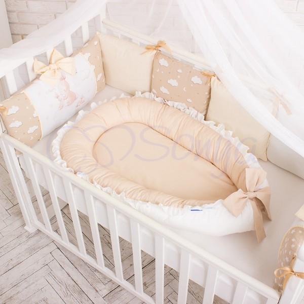 Кокон-гнездышко для новорожденных на выписку (много моделей) фото №1
